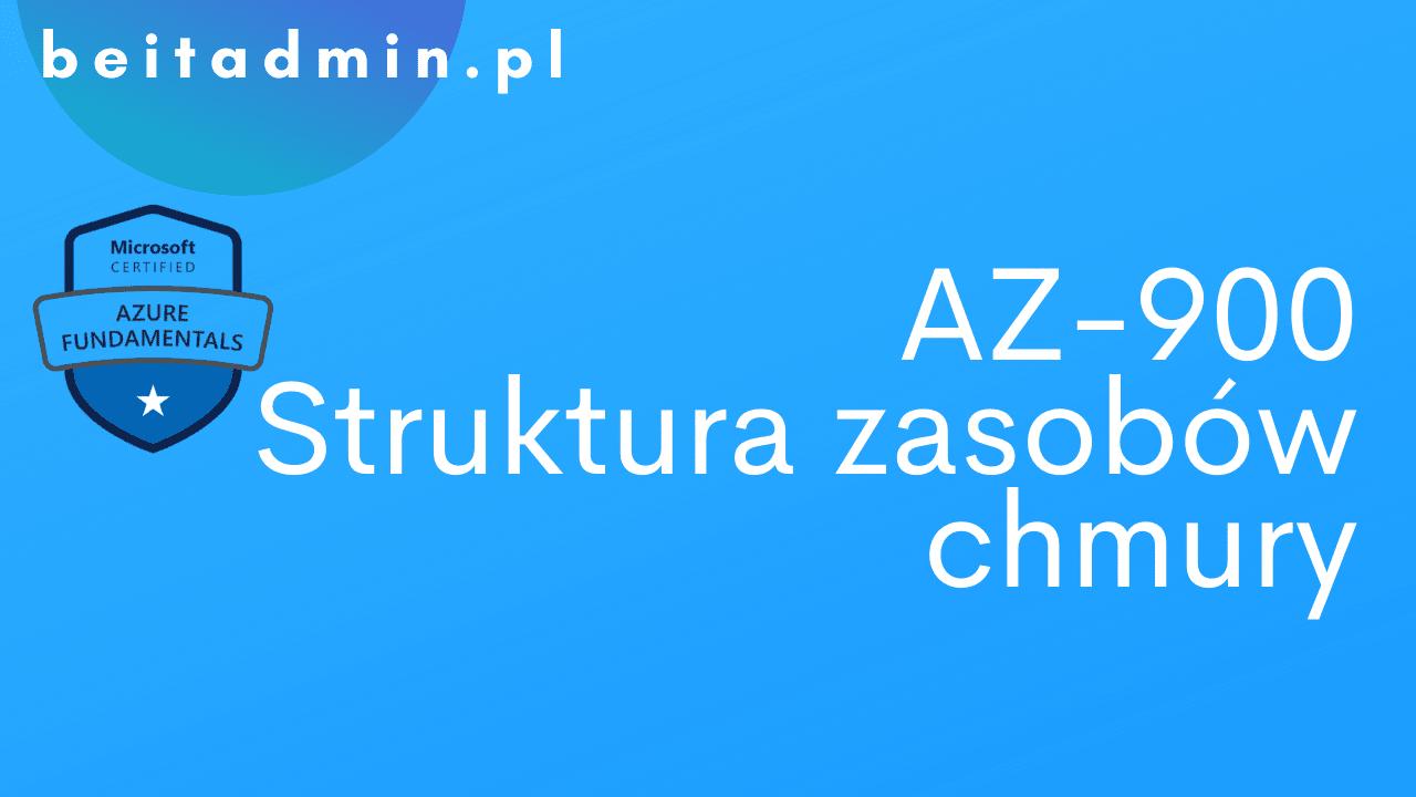 Azure AZ-900 Struktura zasobów chmury