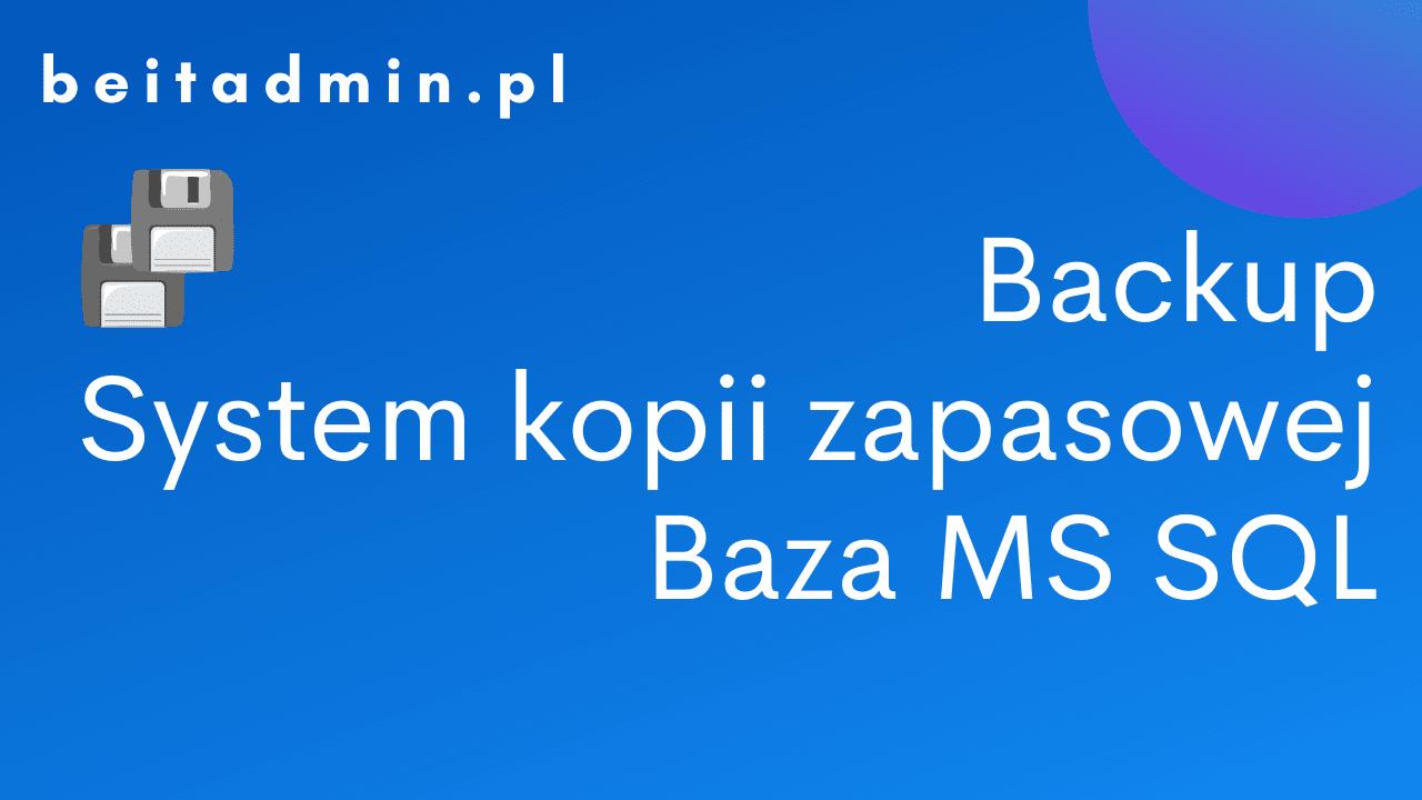 Backup MSSQL