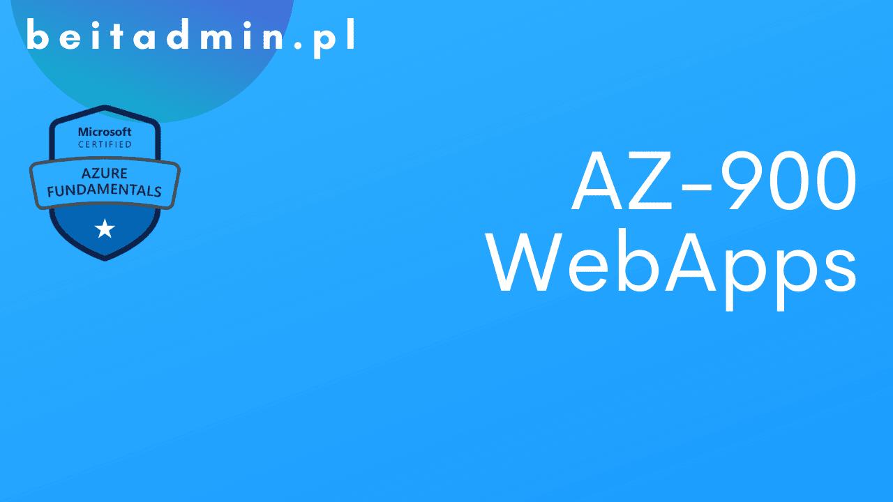 Azure AZ-900 WebApps