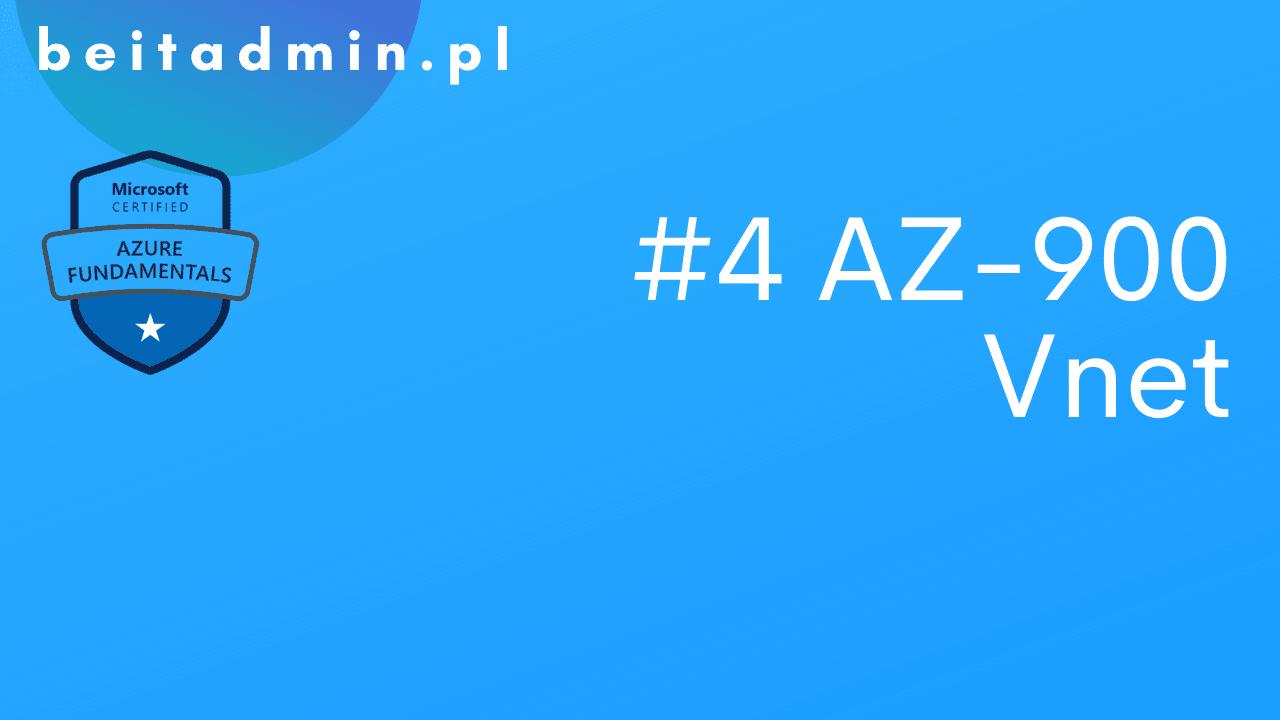 Azure AZ-900 Vnet